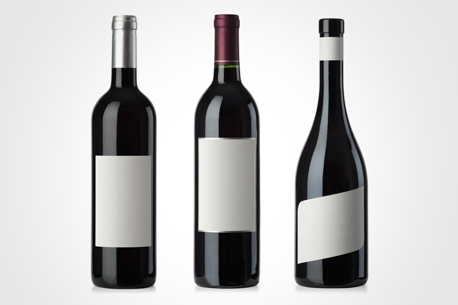 Blank Wine Bottle Labels | White Gold